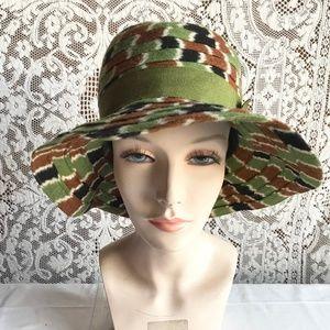Accessories - Vintage 1970s Wide Floppy Brim Wool Hat
